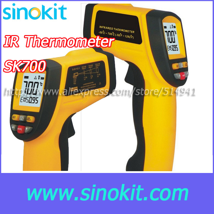 ФОТО Free Shipping Temperature range:-50 ~ 700'C Infrared thermometer SK700