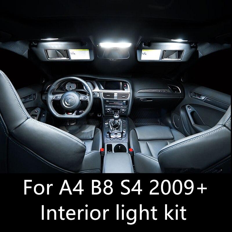 Shinman14pcs Error Free Auto Led Bulbs Car LED Interior Light Kit Dome Lamp For AUDI A4 B8 S4 accessories 2009-2015 interior