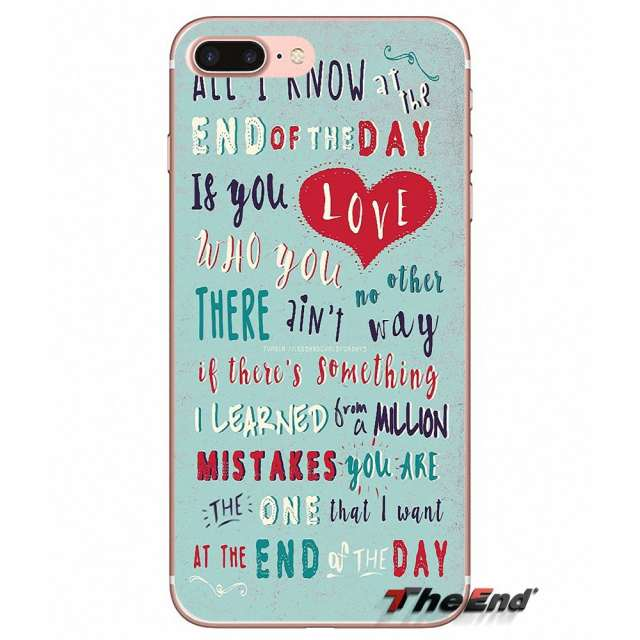 End of the Day One Direction lyrics Case For iPhone X 4 4S 5 5S 5C SE 6 6S  7 8 Plus Samsung Galaxy J1 J3 J5 J7 A3 A5 2016 2017