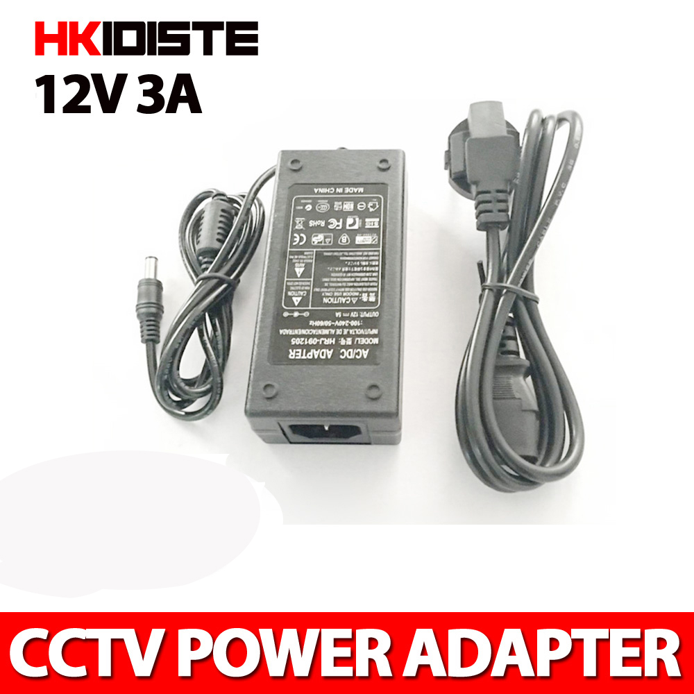 3A Power Adapter for Led Strip 36W DC 12V Voltage Transfomer with EU US UK AU Plug Power Supply Led Driver new dc 12v 2a ac 100 240v eu us uk au dc adapter charger power supply for led strip light cctv 2 5 5 5mm for dvr camera systems
