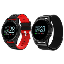 R13 Smartwatch Fitness Tracker Multi-language Waterproof Sport Bracelet Blood Pressure OLED Color Screen Silicone Metal Band