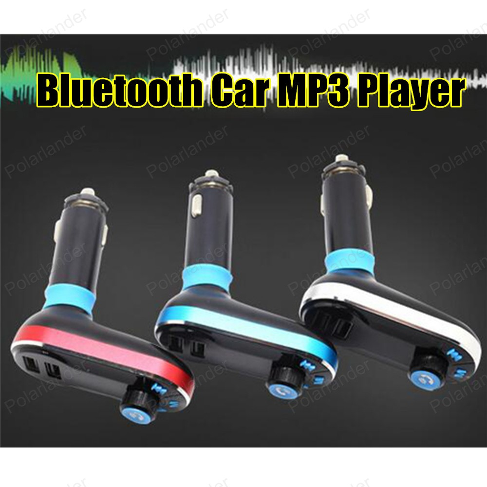 Bluetooth Car Kit FM Transmitter Hands Free AuxMp3 Player Modulator with LED Display Portable Dual USB Charger Transmissor FM