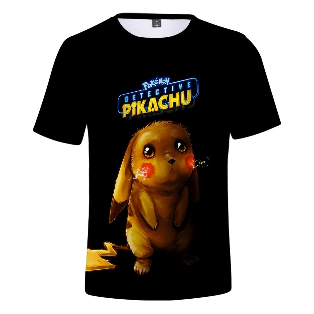 1478a9767 font-b-pokemon-b-font-detective-pikachu-3d-. Pokemon Detective Pikachu 3D  Printed T-shirts Women/Men Fashion Summer Short ...