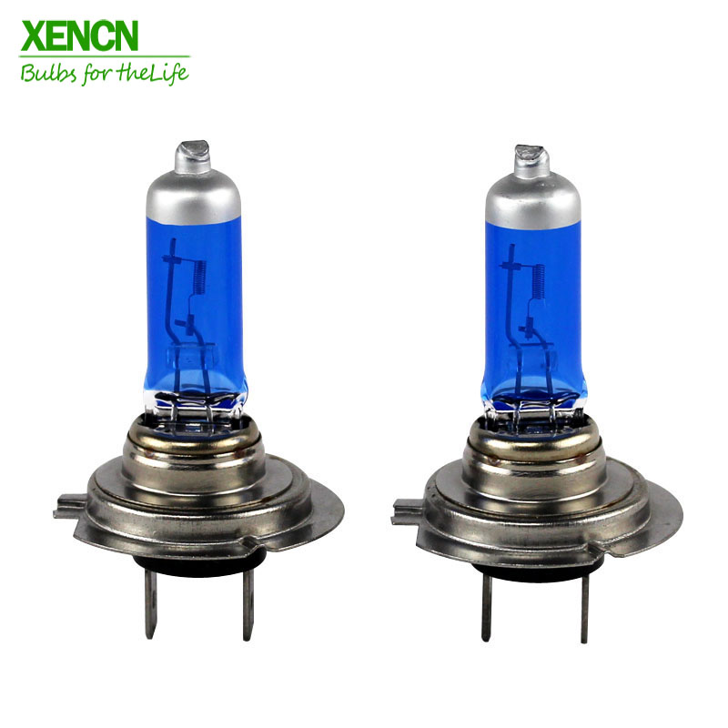 XENCN H7 12V 100W Super brillante blanco antiniebla halógeno Luz de coche bombillas UV faros Auto lámpara aparcamiento 4300K