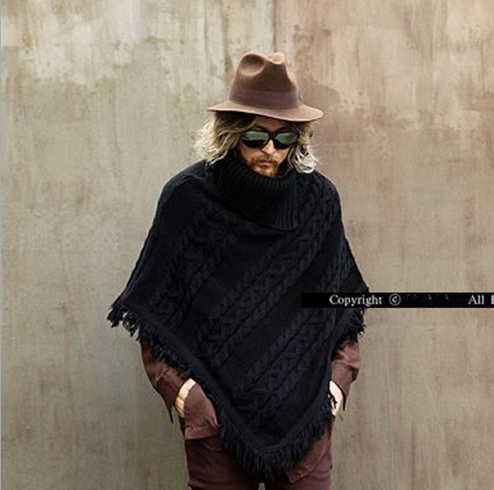 Fashion Poncho Mens