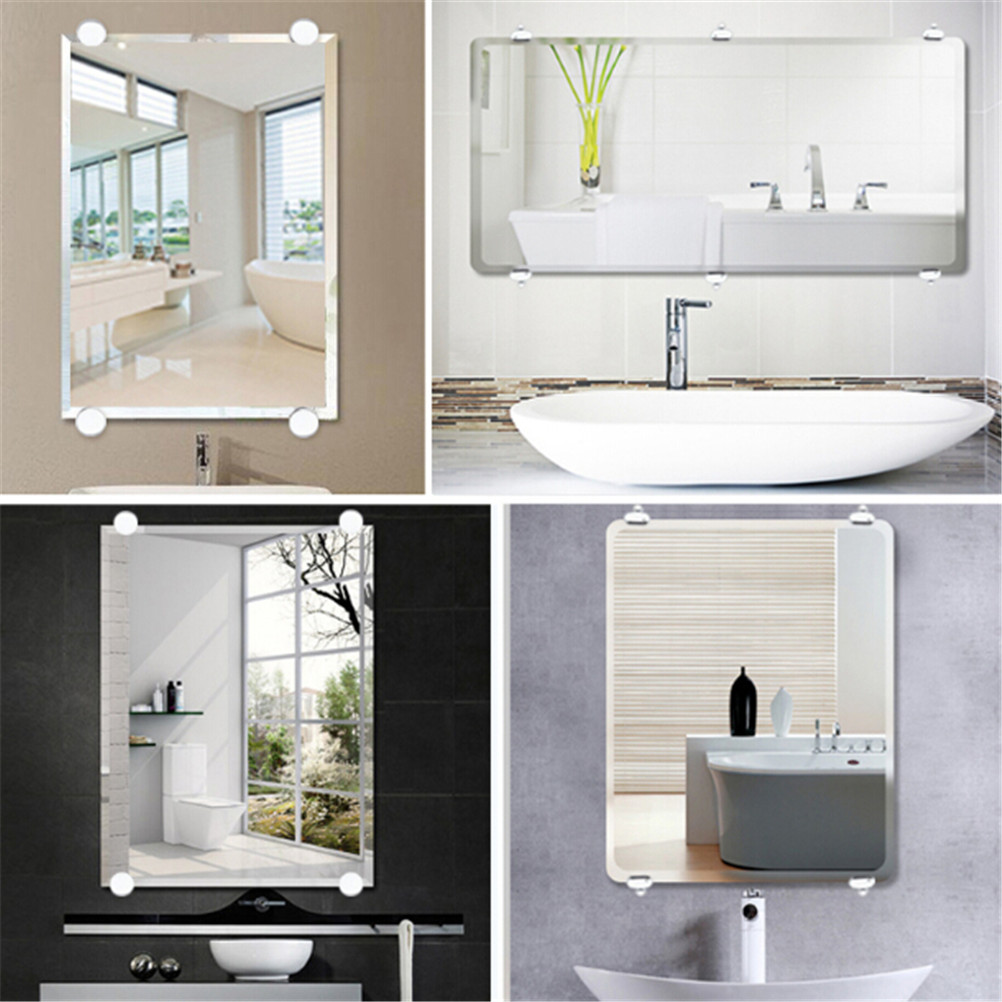 Mirror Fixed Fitting Bathroom Mirror Glass Mirror Hinger  Fixed Accessories Advertising Plate Glass Clamp Fixed Clip Mirror