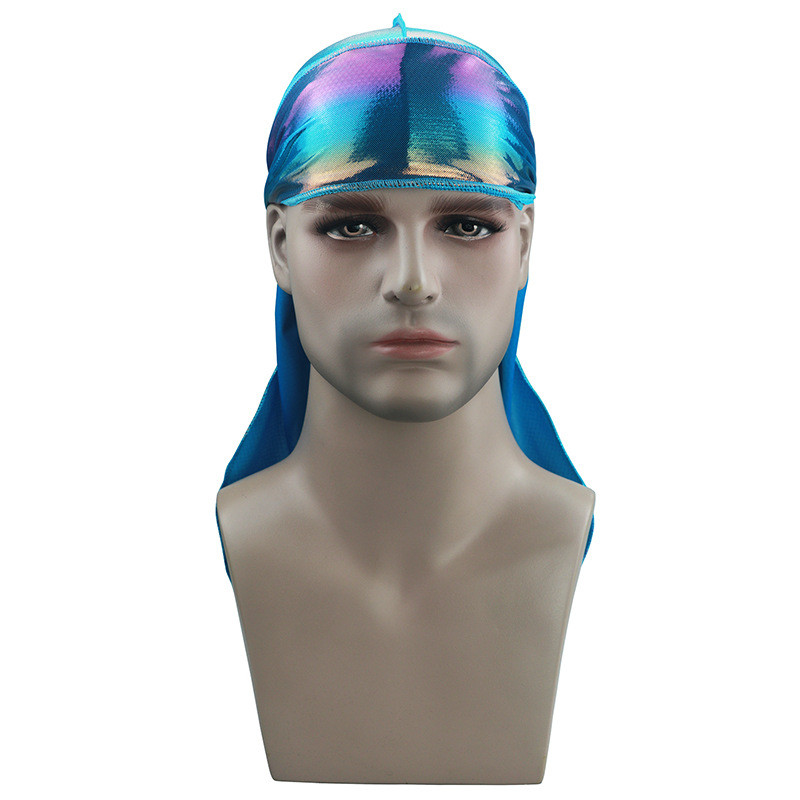 New Colorful Sparkly Durags Turban Bandanas Men 39 s Shiny Silky Durag Headwear Headbands Hair Cover Accessories Wave Caps Rags Hat in Women 39 s Hair Accessories from Apparel Accessories
