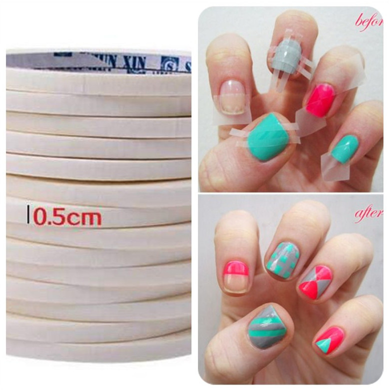 Aliexpress Buy French Manicure Nail Art Tips Creative Nail
