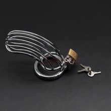 SMspade silver male chastity cage locking stainless steel dildo cage ring toys for man