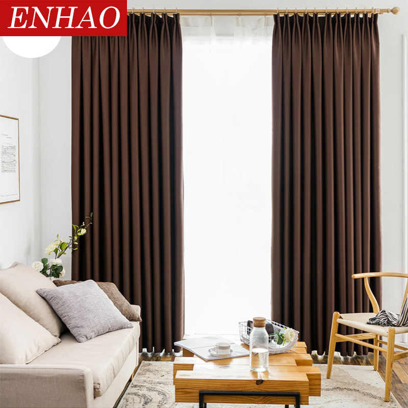 Enhao Modern Blackout Curtains For Living Room Bedroom Kitchen