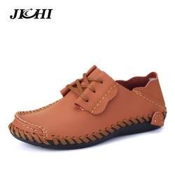 2019 мужские мокасины из натуральной кожи, весенние повседневные уличные мужские туфли на плоской подошве, дышащие Лоферы ручной работы