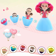 New Style Cupcake Dolls Princess 9cm Cupcake Surprise Doll Deformable Bonecas Toys For Children Birthday Gift Mini Cup Cake Doll цены