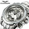 Fashion GUANQIN Men Quartz Watches Men S Luxury Wrist Watch Big Brand Chronograph Watch Luminous Clock