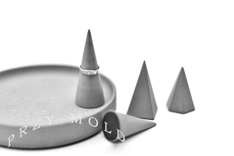 Silikagel silikonform beton zement ring armband schmuckständer - Küche, Essen und Bar - Foto 5