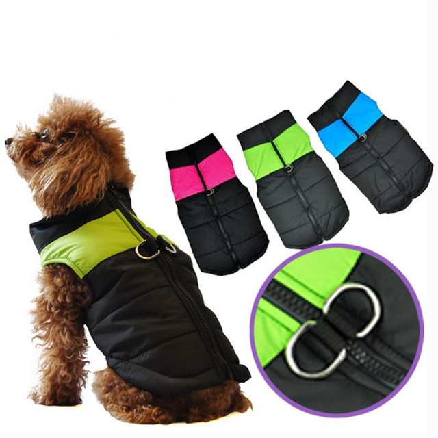 Zip Up New Winter Warm Pet Dog Clothes Small Waterproof Dog Coat