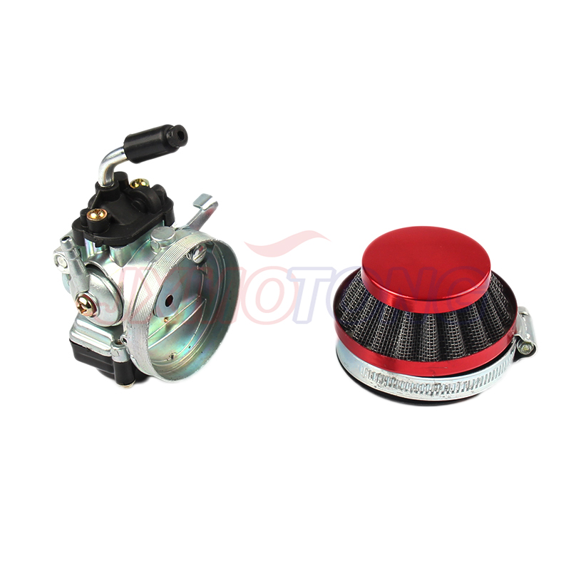 Carb Carburetor with Air Filter Red For 49cc 50cc 60cc 66cc 80cc 2 Stroke Motorized Bike