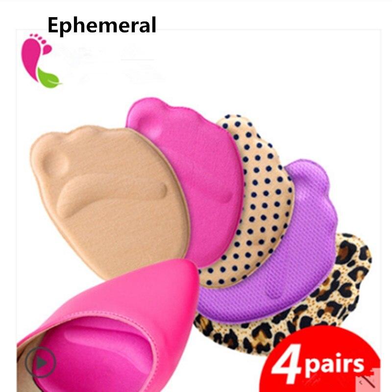 4 paia scarpe cuscino pad di silicio e cotone scarpe chiare inserto gel protezione del tallone per le donne e scarpe da uomo di alta moda Effimero