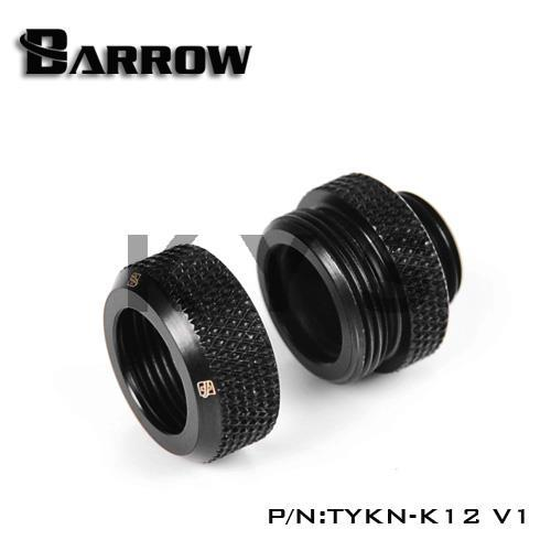 Barrow G1/4 12mm Rigid Tube Joint Fitting Connector TYKN-K12 V1 barrow g1 4 x 2 double head hard tube 90 d multi link adapter 12mm 14mm black silver white gold twt90kns k12 twt90kns k14