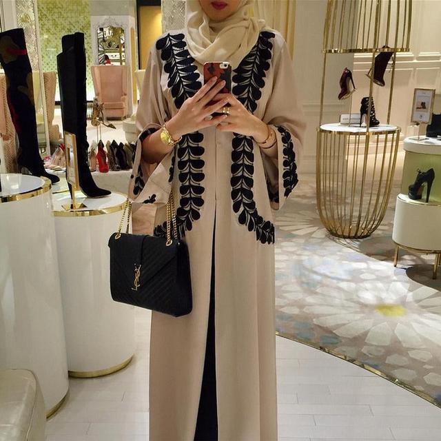 2016 новый Взрослых Случайный кружева хлопок Халат Мусульманского Турецких Печатных Абая Мусульманский Платье Кардиган Халаты Арабские Богослужения W946