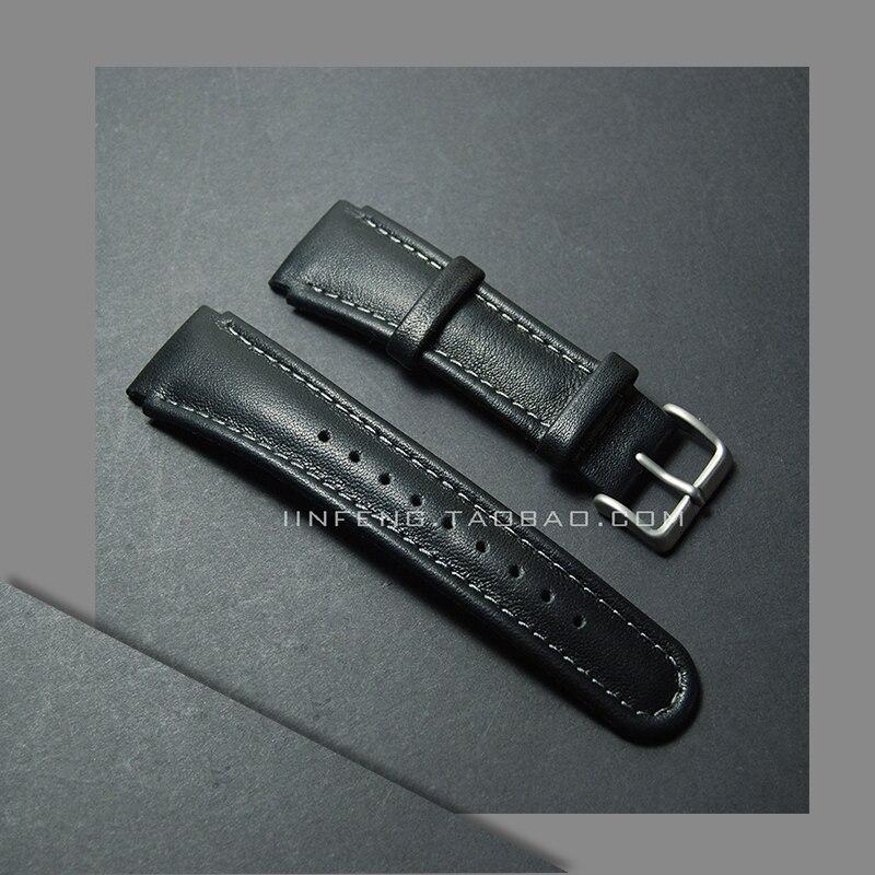 Substituição Pulseira de couro genuíno 22mm PARA SUUNTO X-LANDER Seiko Watch Strap Watch acessórios