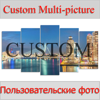 Photo custom 5PCS Multi picture Combination DIY Diamond Embroidery 5D Diamond Painting Cross Stitch full Rhinestone mosaic