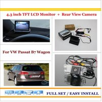 Auto Rear View Camera Back Up 4 3 LCD Monitor 2 In 1 Parking Assistance System