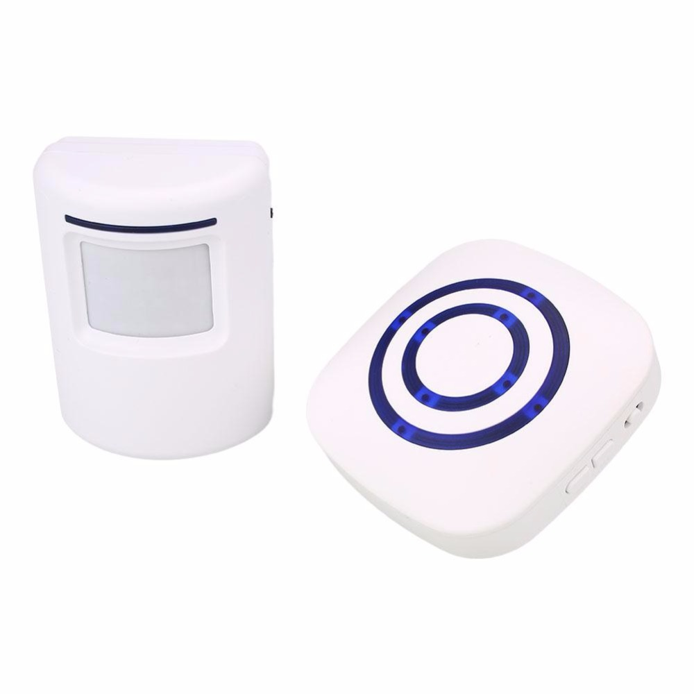 Wireless Infrared Monitor Motion Detector Visitor Entry Door Bell Welcome Alarm