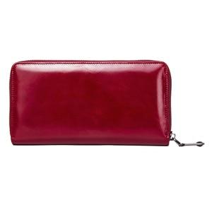 Image 5 - 連絡の新ファッション女性財布ロングデザインクラッチ財布本革の女性の財布ジッパー & 掛け金コイン財布高品質