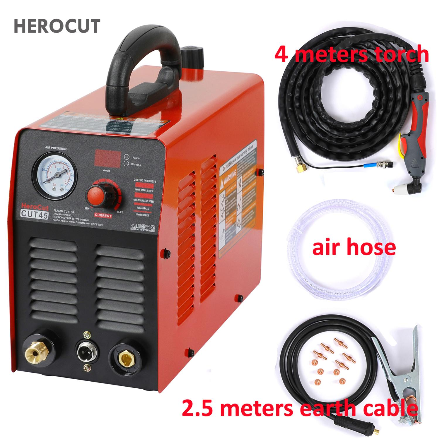 HeroCut 220V Plasma Cutter IGBT Plasma Cutting Machine Cut45 220V 10mm Clean Cut Great To Cut All Steel