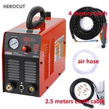 Herocut cortador de plasma igbt, 220v 10mm cortador de plasma máquina de corte limpo ótimo para cortar todos os aço de aço