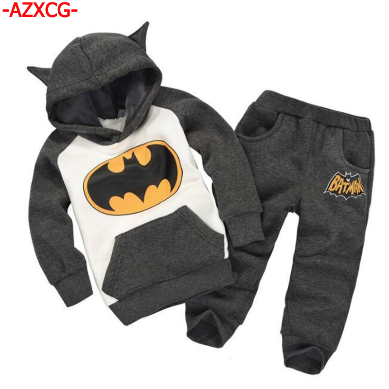 Baby Boys Girls Batman Clothing Brand Fashion Girl's Sweater + Pant Suit Set Baby Cotton Tracksuit Children Long Sleeve Clothes europe hot sale baby girls long sleeve velvet plaid top pant suit fashion childrens casual clothes princess clothing 16d1224