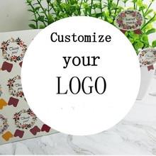 Печать фото на заказ наклейки этикетки свадебные наклейки индивидуальный логотип прозрачный клей круглый ярлык подарочные ярлыки украшения