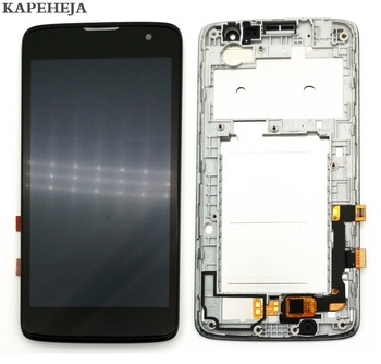 цена на 5.0For LG K7 LTE X210 X210DS LCD Display Touch Screen Digitizer Assembly with Bezel Frame