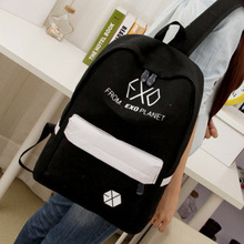 Frauen druck rucksack schultaschen Exo Rucksack Korea adrette exo Leinwand rucksack reise taschen mochilas femininas