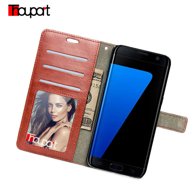 Leather Case For Samsung Galaxy S7 Edge Phone Cover Stand Card for Samsung Galaxy S7 Case Flip Retro Wallet Bags