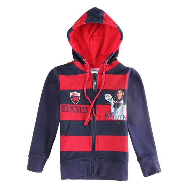 Manera de la nave AZUL rojo niños hoodies ropa niños chaqueta con capucha ropa de bebé año nuevo deportes trajes para bebés niños ropa de algodón