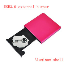 Free Shipping External dvd burner USB3.0 mobile external desktop notebook drive aluminum alloy Hard disk swap red