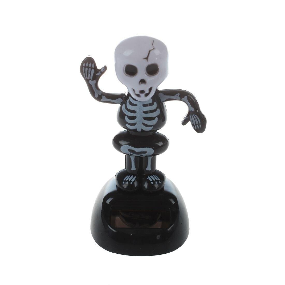 Großhandel Artikel Solar Power Tanzen Abbildung Grausige Mordszene Skeleton Außenbeleuchtung Neuheit Schreibtisch Auto Spielzeug Ornament