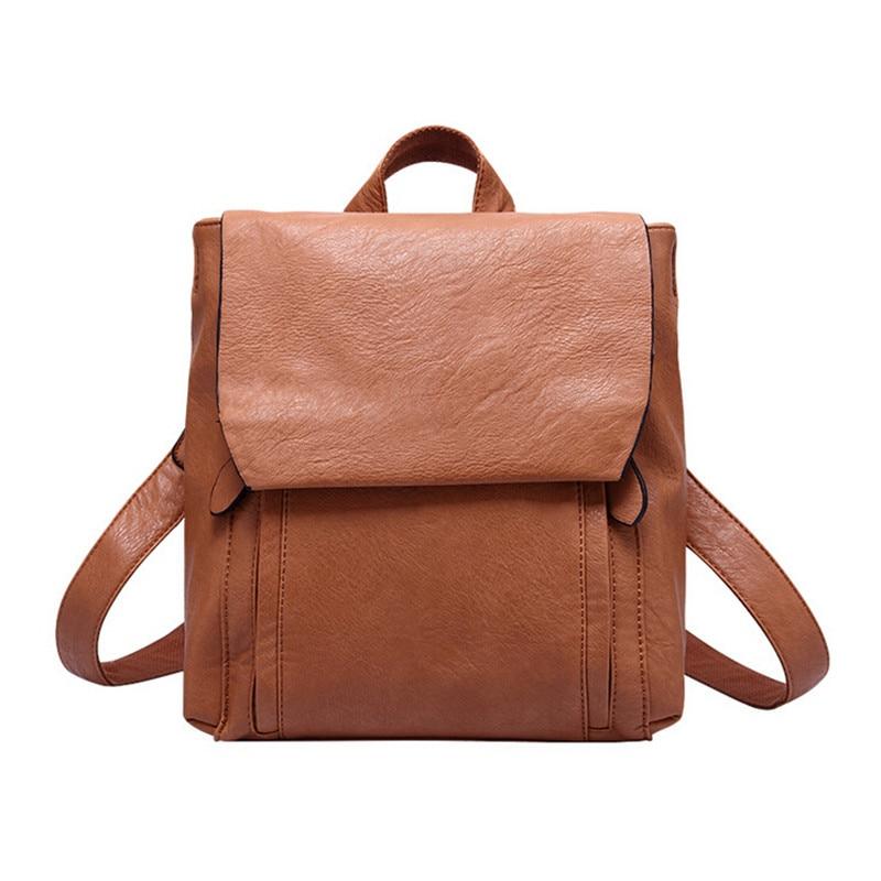 ФОТО G61 New men backpacks vintage leather backpack travel bag student casual shoulder backpack school bags for teenagers girls