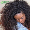 180 Density Afro Kinky Curly Lace Wigs With Baby Hair For Black Women Glueless Full Lace Front Wigs Human Hair Kinky Curly Wig