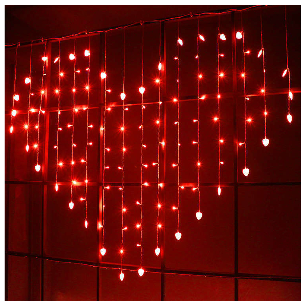 Coração em forma de 128 led janela