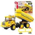 J516 Building Blocks establece 191 unids vehículos de ingeniería Jigsaw construcción ladrillos educativos tempranos Brinquedos