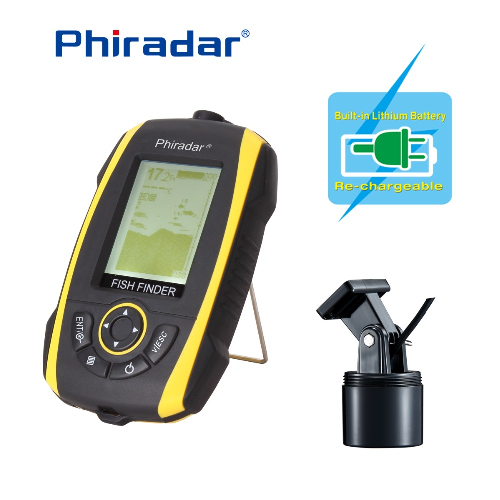Free Shipping!Phiradar FF268A Wired Portable Fish Finder 240ft/73M Depth Audible Fish Sonar Alarm Waterproof Fishfinder free shipping alarm sonar lcd fish depth finder