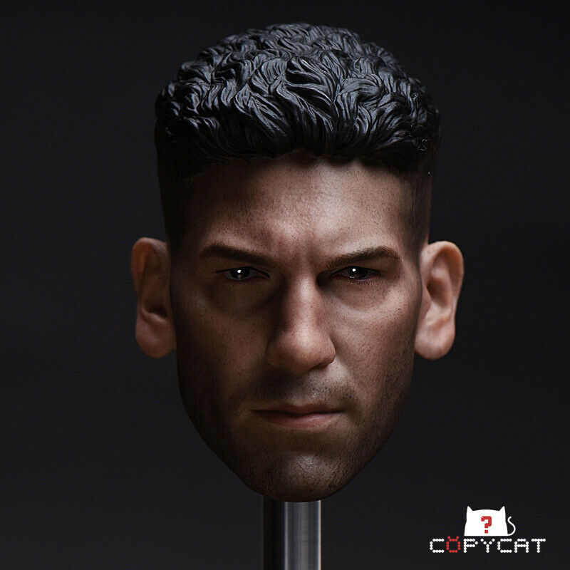 Head sculpt 1/6 Scale male head 1/6 Scale Punisher Daredevil Head Sculpt Model  PVC Toys Fit 12 Action Figure BodyHead sculpt 1/6 Scale male head 1/6 Scale Punisher Daredevil Head Sculpt Model  PVC Toys Fit 12 Action Figure Body