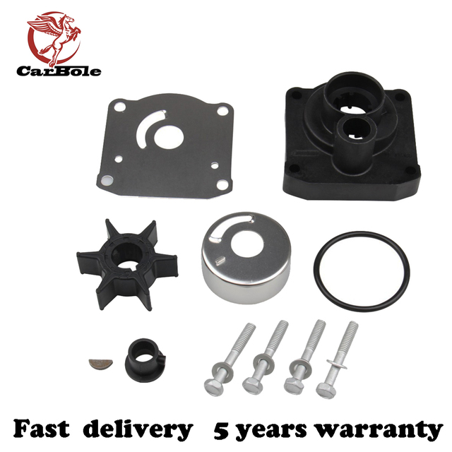 CarBole Water Pump Impeller Repair Kit 61N-W0078-11-00 Fits For Yamaha 25hp Outboards
