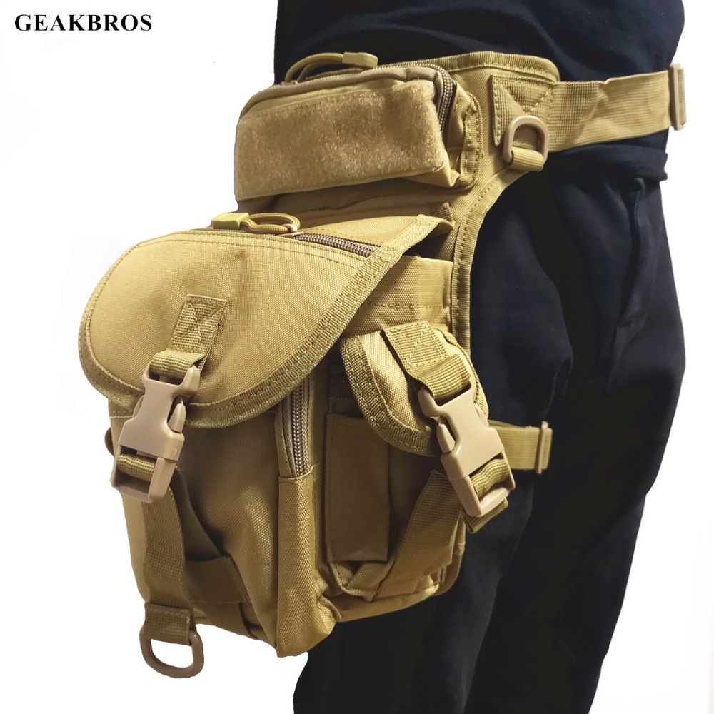 Military Tactical Drop Leg Bag Tool Fanny Thigh Pack Hunting Bag Waist Pack Motorcycle Riding Men 1000D Military Waist Packs(China)
