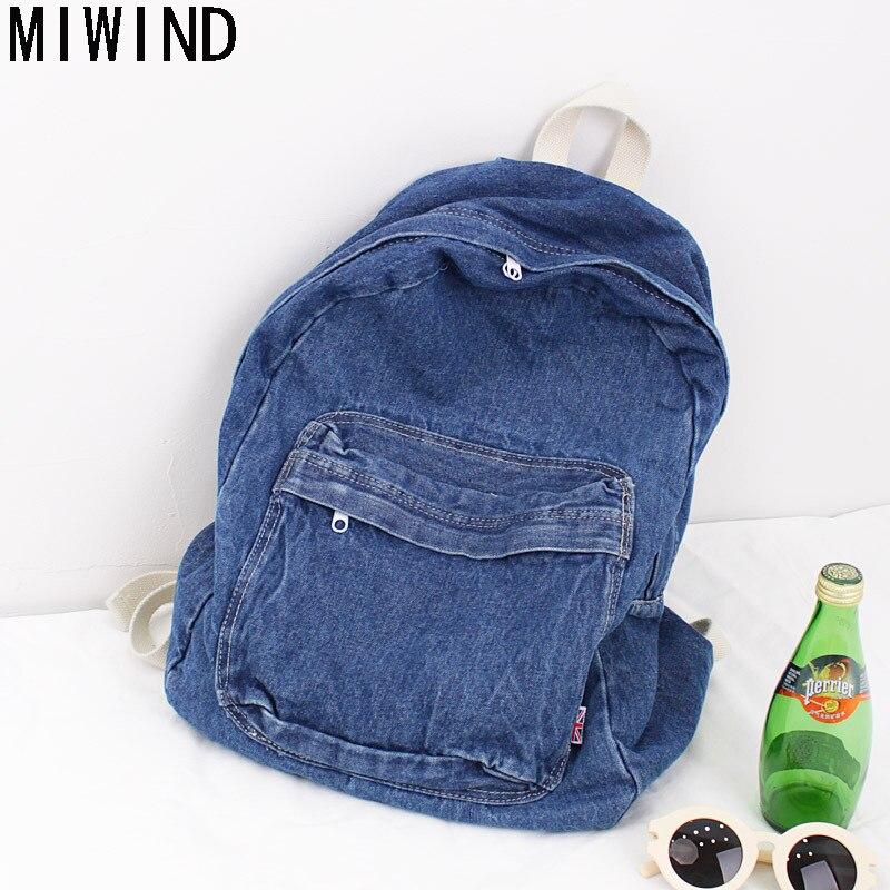 2017 nouveau Denim sacs à dos Bookbag sacs d'école pour adolescents voyage sac à dos étudiants ordinateur sacs à dos pour femmes sac à dos TA1315