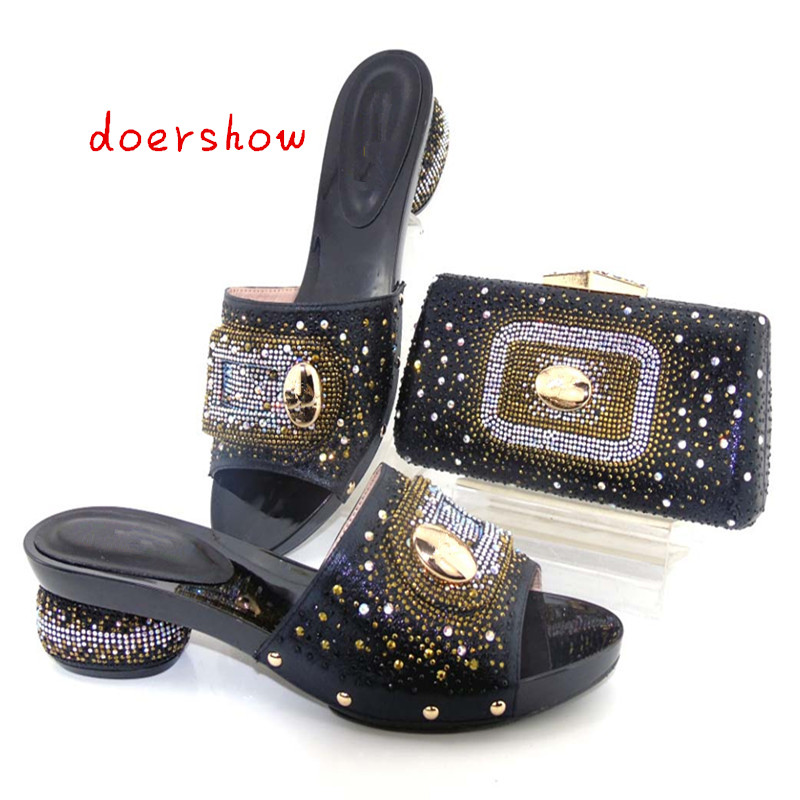 doershow Shoes and Bag To Match Italian African Shoe and Bag Set Women Shoe and Bag To Match Afrcain Shoe and Bag Set  TYS1-5 red african wedding shoe and bag sets women shoe and bag to match for parties elegant italian women shoe and bag set