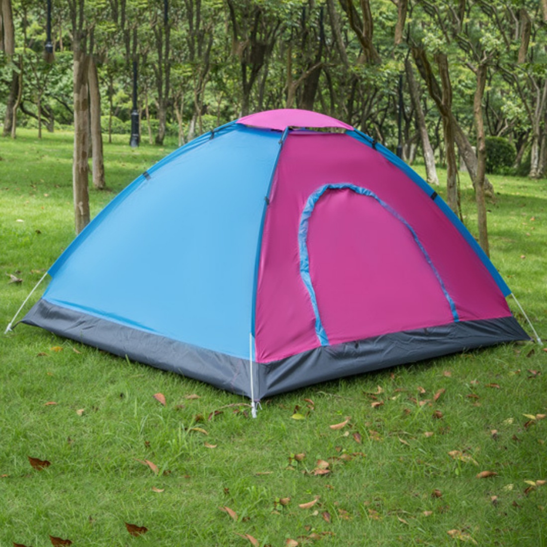 ФОТО Portable Automatic Outdoor Camping Hiking Tent 3-4 Person Beach Tent 200*200*130cm - Color Random