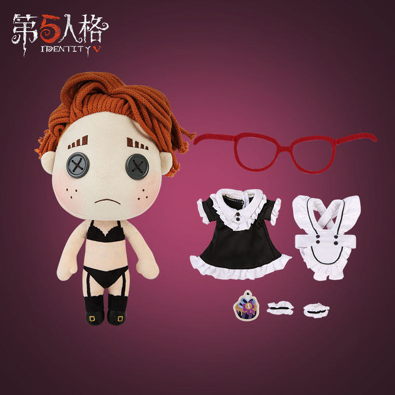 Game Identity V Survivalist Lucky Cosplay Maid Dress Outfit Doll Plush Stuffed Cushion Throw Pillow Toy DIY Change Set Gift